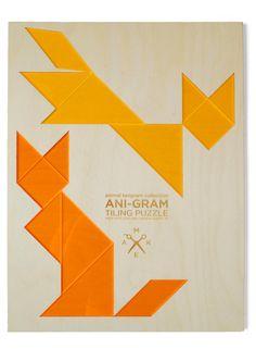 fox  fox tangram puzzle by BrightBeam on Etsy, $36.00