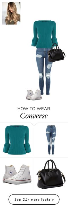 """My Style"" by hammiegrl on Polyvore featuring Topshop, Karen Millen, Converse and Givenchy"