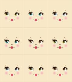 doll face painting Baby Dolls Free Printable Patterns No Problem Examples Doll Face Template Doll Face Paint, Doll Painting, Doll Clothes Patterns, Doll Patterns, Face Template, Doll Making Tutorials, Clothespin Dolls, Doll Eyes, Sewing Dolls