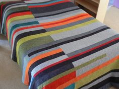 Mid-Century Modern Queen Quilt (Take 2) - Made to Order by sally tb