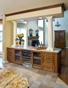 6 Imaginative Tips AND Tricks: Room Divider Kitchen Open Concept fabric room divider ideas. Home, Mediterranean Kitchen Design, Kitchen Remodel, Home Remodeling, Kitchen Dining Room, Room Divider Bookcase, Divider Cabinet, Rustic Room, Bamboo Room Divider