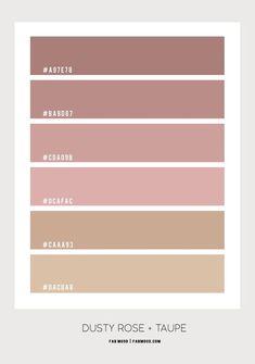 Pantone Colour Palettes, Color Schemes Colour Palettes, Bedroom Color Schemes, Bedroom Colors, Pantone Color, Brown Color Schemes, Color Palette For Home, Hex Color Palette, Cores Rgb