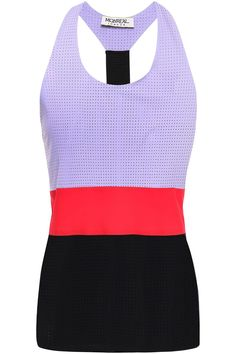 Shop on-sale Perforated stretch tank. Browse other discount designer Tops & more luxury fashion pieces at THE OUTNET Tie Dress, Jacket Dress, Skirt Pants, Discount Designer, Black Tie, Dress Outfits, Knitwear, Latest Trends, Athletic Tank Tops