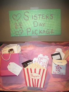 Homemade Sisters Day Package As A Christmas Present For My Little Sister
