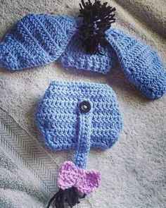 Tutorial on How to Crochet a Newborn Baby Eeyore Set. By Havoc Mayhem Cr... https://www.youtube.com/watch?v=ZLwIQCUqKVg