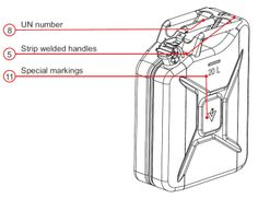 VALPRO jerry can in details