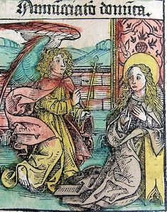 Annunciation - Nuremberg Chronicle - Category:Nuremberg Chronicle - Wikimedia Commons