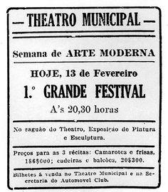 Semana de arte moderna de 1922 - divulgação