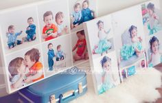 Can't decide on a single image to put on a canvas? Create a custom storyboard! Storyboards are a collection of images that tell a narrative about your family in one stunning wall display. These adorable canvases use multiple images to capture the connection of twins and the playful personality of a