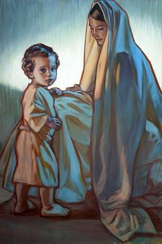 Rose Datoc Dall. Mary and Christ. I love the color and luminosity she captures in all her paintings...
