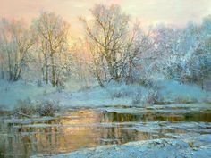 From the series 'Seasons'. Oil painting by Russian artist Yuri Obukhov