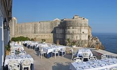 Nautika Restaurant, Dubrovnik, Croatia Guests dine on chef Mario Bunda's Mediterranean cuisine while enjoying views of the Adriatic and historic fortresses. The restaurant's romantic atmosphere has drawn celebrity couples including Hollywood royalty (Goldie Hawn and Kurt Russell) and actual royalty (Prince and Princess Akishino of Japan and the king and queen of Norway). Brsalje no. 3, Dubrovnik, Croatia; nautikarestaurant.com