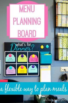 Planning flexible menus de la semaine