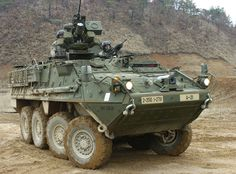 An M1126 Stryker Infantry Carrier Vehicle in South Korea
