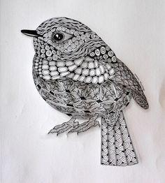 zentangle bird - Recherche Google