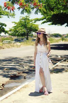 Blog da Lê-Moda e Estílo: Look - Saia Jeans com botão frontal