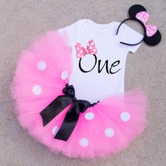 Minnie Mouse Inpired Birthday Outfit Pink by ValerieandVivienne