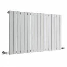 Alpha - White Horizontal Single Slim Panel Designer Radiator 635mm x 1190mm £169.99