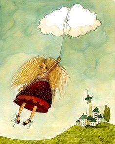 Tras los CristaLes de la VenTana: Anne Soline Ilustraciones Infantiles
