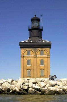 The Toledo Harbor Lighthouse was established and constructed in 1904 to guide ships into Toledo from Lake Erie.