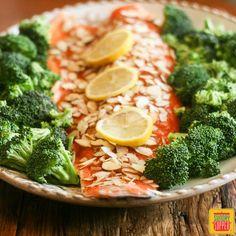 Honey Almond Salmon #SundaySupper
