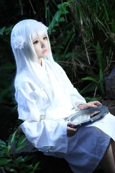 Cosplay de Kanna de Inuyasha.
