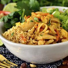 Chicken Pad Thai (No Tamarind) Gluten Free Recipes For Dinner, Dinner Recipes, Thai Recipes, Chicken Recipes, Free Breakfast, Breakfast Recipes, All You Need Is, Tamarind, Food Print