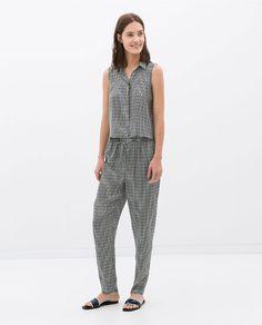 Zara Check Print Trousers