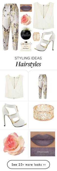 """Lisa"" by badwolfco on Polyvore featuring Rochas, Alice + Olivia, Qupid, Salvatore Ferragamo, Forever 21 and Dot & Bo"