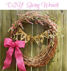 Grapevine Wreath, Wreath, DIY Wreath, Spring Wreath, Easter Wreath, Summer Wreath