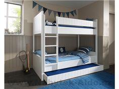 Poschodová posteľ s prístelkou Robin ROSB9014