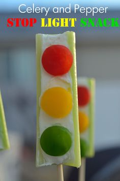 Stoplight Celery - Celebrate Black History.  Garrett Morgan (1877–1963) invented the traffic signal (and the gas mask)