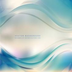 Light Blue Wave Design Background #freevectors