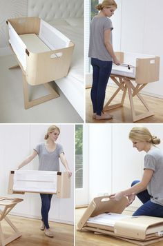 Bednest is a bedside crib, stand-alone crib, moses basket and folds completely flat for easy travel