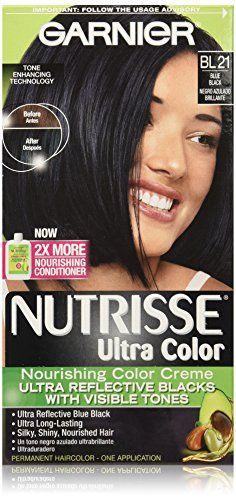 Garnier Nutrisse Ultra Color Nourishing Color Creme, BL21 Reflective Blue Black undefined undefined