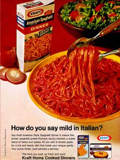 vintage kraft spaghetti ads | posted at 05 57 am in advertising from the 1960s vintage ads vintage ...