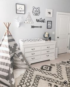 Baby Boy Nursery Room İdeas 742812532277112743 - These type of gallery walls aren't always my thing but I do love them in a kid's room. I also envisioned Max playing so sweetly in this… Source by wcompper Baby Bedroom, Baby Boy Rooms, Nursery Room, Girl Nursery, Baby Boys, Baby Boy Nurseries, Baby Boy Nursey, Cabin Nursery, Teepee Nursery