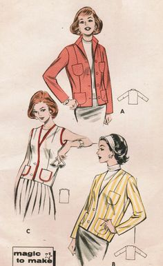 1950s Butterick 8578 UNCUT Vintage Sewing by midvalecottage, $12.00