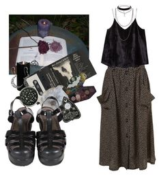 """""""state of elation"""" by laylafgore ❤ liked on Polyvore featuring Boston Warehouse, MANGO and Blackcraft"""