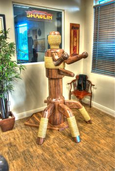 Steven Seagal Wooden Dummy Available Exclusively at Shaolin House|Wing Chun Dummy from Shaolin House