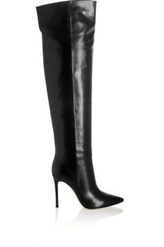 Leather knee boots #kneehighboots #covetme #gianvitorossi