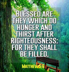 Matthew 5:6 KJV