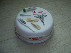 Pharmacy Cake, Medical Cake, Caking It Up, Fondant Toppers, Pta, Nurses, Doctors, Cake Pops, Cake Ideas