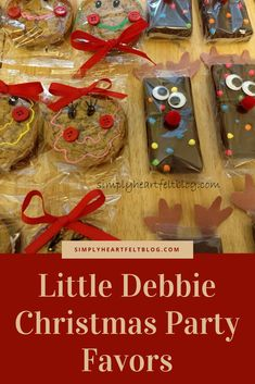 Little Debbie Christmas Party Favors #LittleDebbie #brownie #OatmealPie #reindeer #PartyFavor via @amerrill98