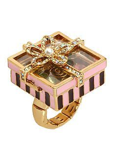 Betsey Johnson Candy Box Stretch Ring I have it and love it Fashion Jewelry Necklaces, Cute Jewelry, Fashion Rings, Jewelry Accessories, Women Jewelry, Silver Jewelry, Jewelry Rings, Fashion Jewellery, Fashion Bracelets