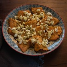 baked pumkin with feta and preserved lemon