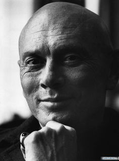 Yul Brynner...his family looked after us when we first arrived in San Francisco. They loaned us a car, dishes, knives and forks and were very kind to us. We met the niece on the boat coming over to US.