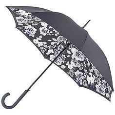 Buy Fulton Bloomsbury Mono Floral Umbrella, Multi Online at johnlewis.com