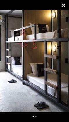 The Mountain Fixer: Kids Bunk Room Update : Built-In Bunk Beds Bunk Bed Rooms, Bunk Beds Built In, Modern Bunk Beds, Bunk Beds With Stairs, Cool Bunk Beds, Kids Bunk Beds, Black Bunk Beds, Bunk Bed Wall, Cabin Bunk Beds