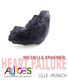 During the Munich Jewelry Week, between the 13th and 16th of March 2019, Alliages Gallery will exhibit the carefully curated art jewellery from the 'Heart failure' at Zentnerstraße 3, 80798 Munich, Germany.   The exhibition is curated by Juan Riusech and it shows the works of 58 international jewellery artists, amongst them also Michelle Kraemer, Izabella Petrut, Dora Des and Eva Tesarik from Atelier STOSSIMHIMMEL. #schmuckkunst #munichjewelleryweek #muenichjewelleryweek2019 Modeling Dough, Jewelry Art, Jewellery, Turn To Stone, Heart Failure, International Jewelry, Munich Germany, Exhibit, March